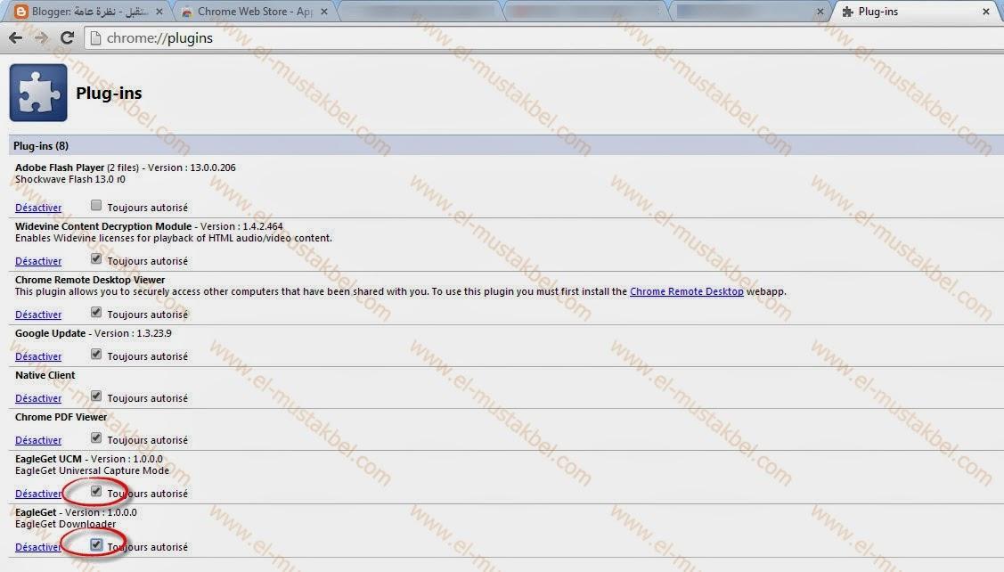حل مشكلة إختفاء أيقونة التحميل من اليوتوب لبرنامج eagleget في متصفح قوقل كروم