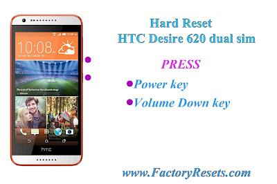 Hard Reset HTC Desire 620 dual sim
