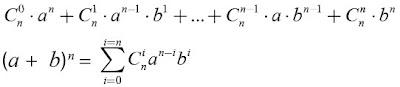 binomial Newton (ekspansi binomial)