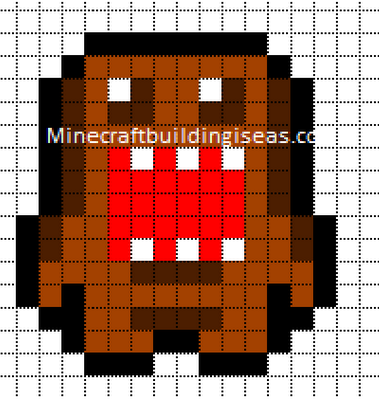 minecraft pixel art templates domo
