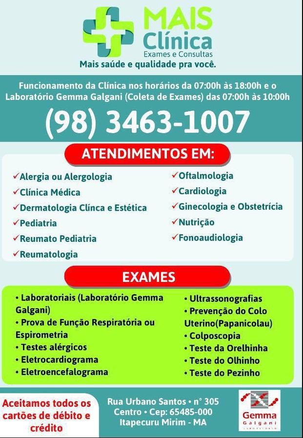 MAIS CLINICA/EXAMES E CONSULTAS