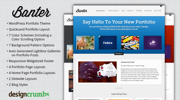Banter WordPress Theme Free Download by Mojo Themes.