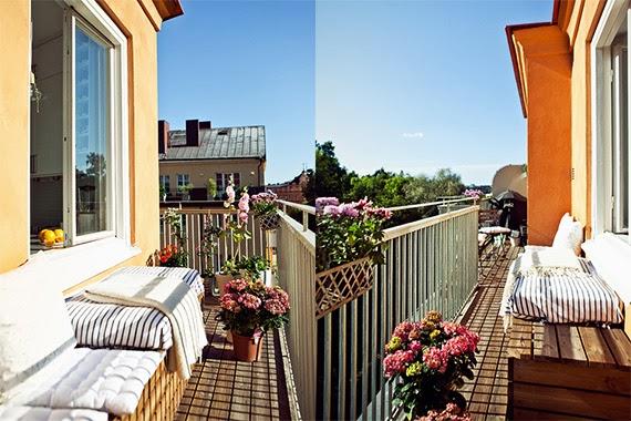 apartamento com varanda - pequenos espaços - ideia de decoração - apartamento iluminado