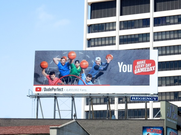 Dude Perfect YouTube billboard