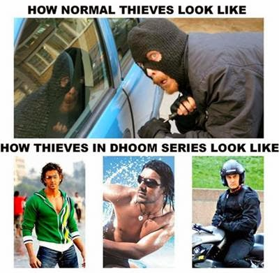 Amir Khan Dhoom Bollywood Movie Funny Pictures From Facebook