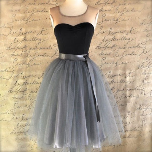 Black And Silver Tulle Tutu Skirt For Women
