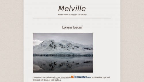 Melville - Free Blogger Template