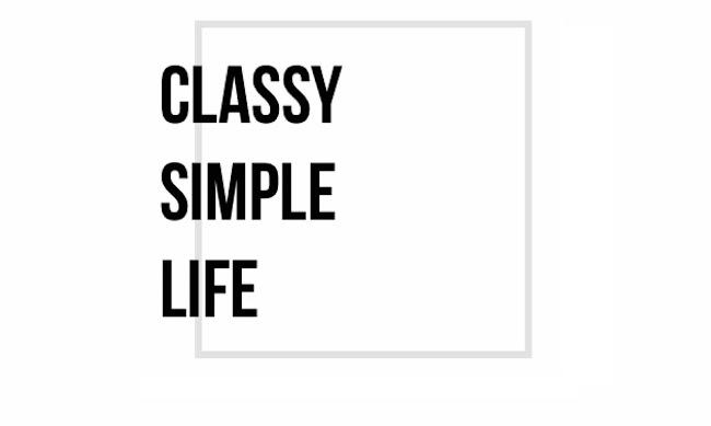 Classy Simple Life