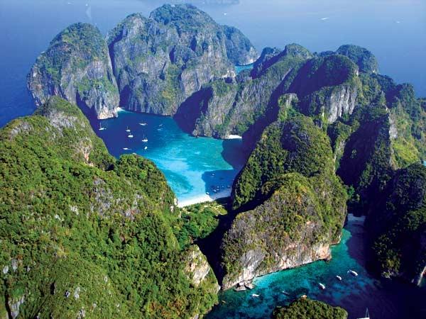 Phi Phi island top view