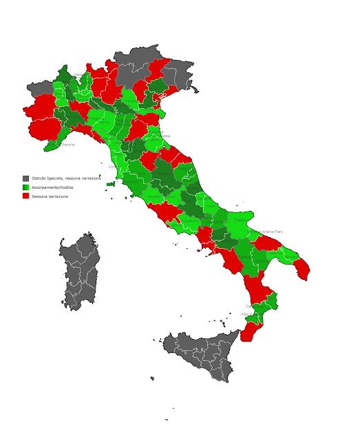 Province Riordino delle Province, ecco come è cambiata lItalia