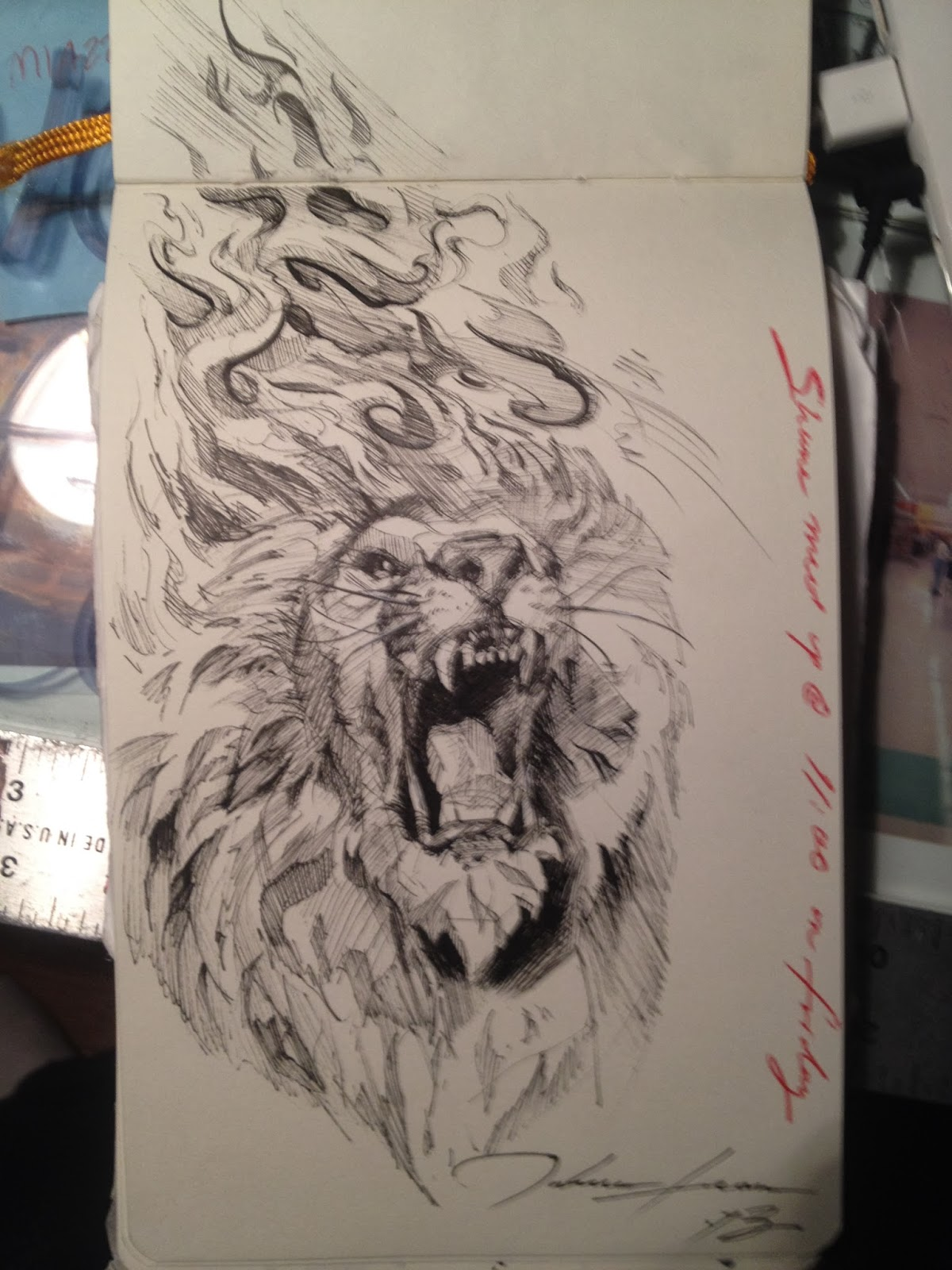 The gallery for joshua 19 lion tattoo for Joshua 1 9 tattoo