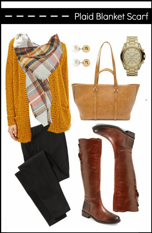 how to style the zara plaid blanket scarf because shanna said so