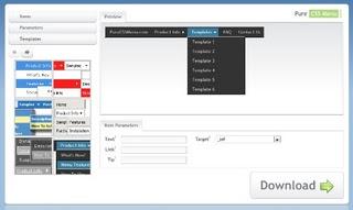 меню CSS онлайн