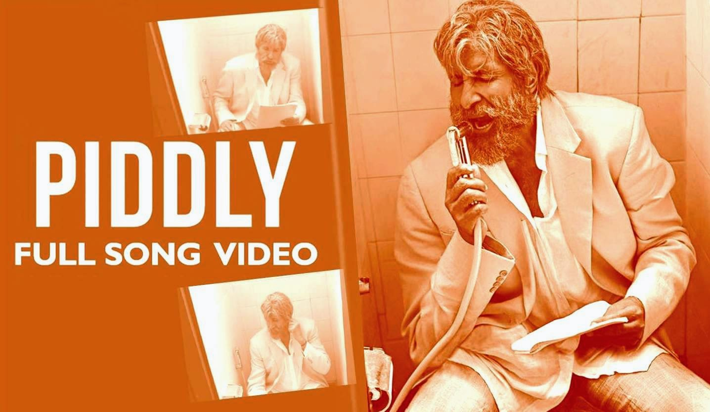 Shahanshah Amitabh Bachchan singing toilet song Piddly for Shamitabh movie