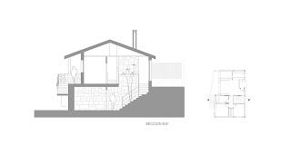 Sección vivienda unifamiliar en Oia