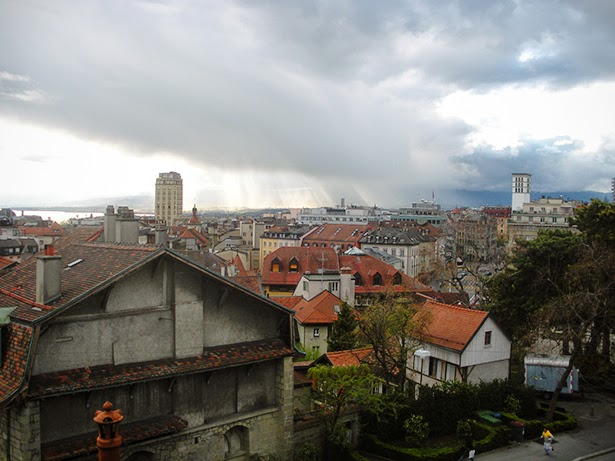 View of Lausanne, Switzerland from above