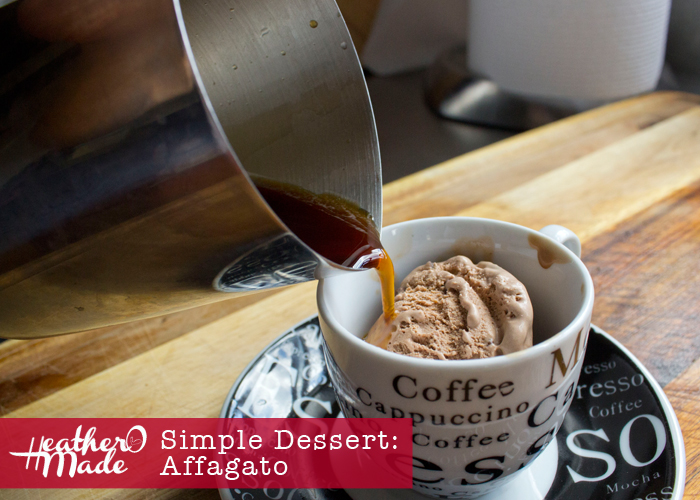 Simple Dessert. Affagato. easy recipe.