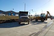 . avenida Islas Malvinas, en el sector del Parque Industrial de la Ciudad, . ensanchamiento islas malvinas