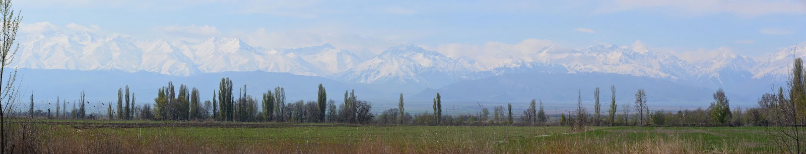 Panorama Tian Shan Mountains