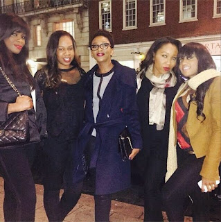 Genevieve Nnaji and friends