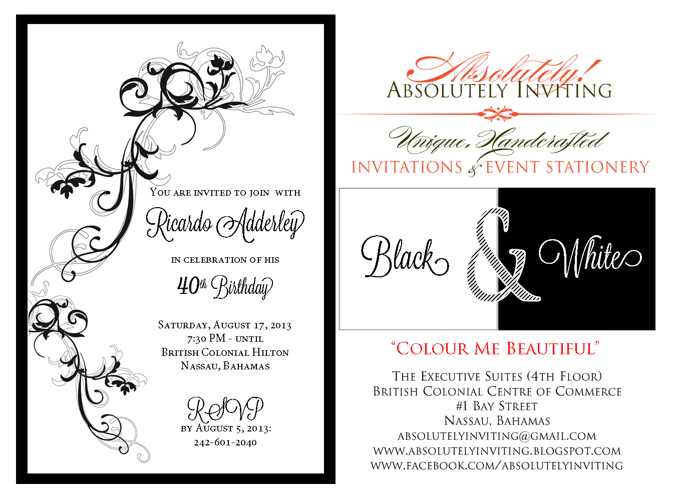 Absolutely Inviting! Unique, Handcrafted Invitations & Event ...