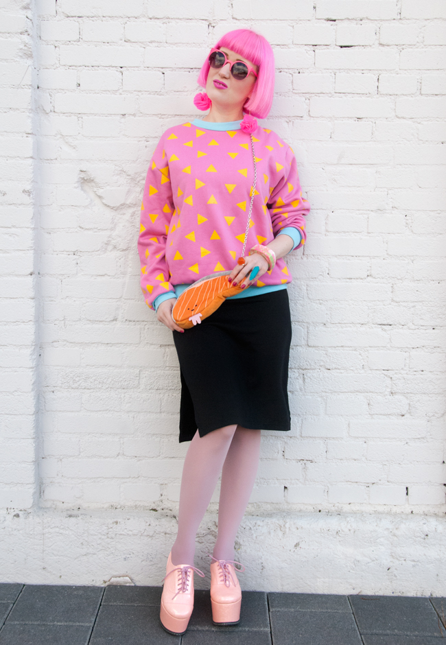 Tilly Me, 90s inspired outfit, pink hair