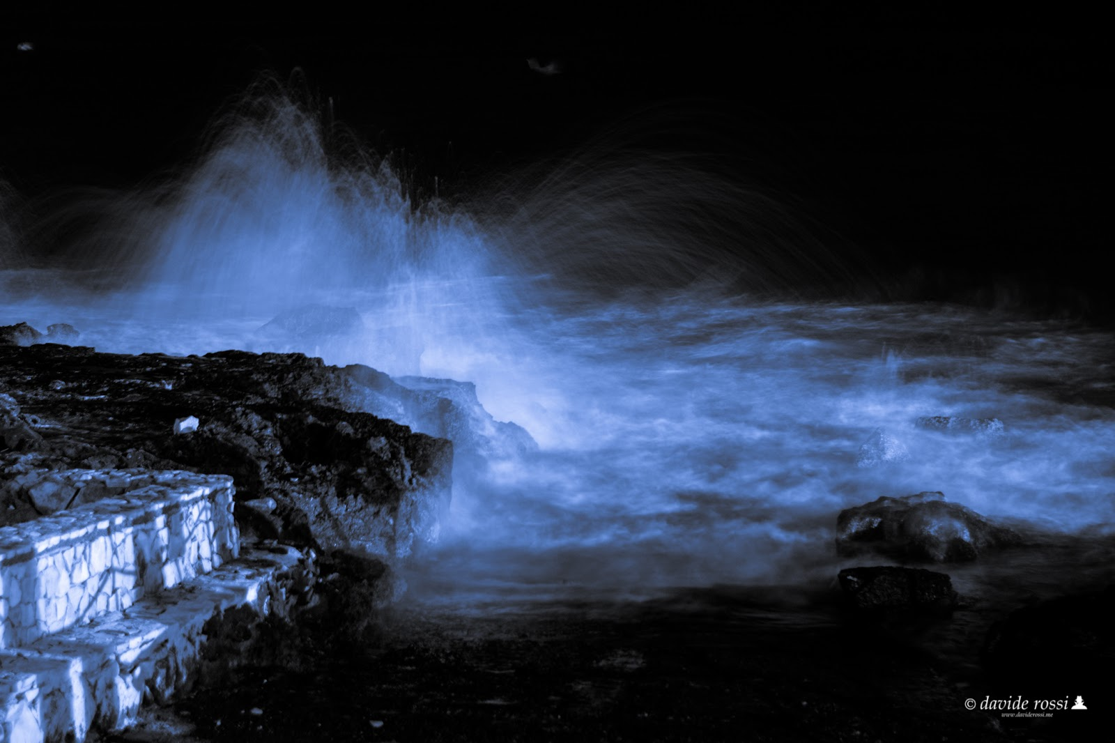 Long Exposure Blue monochrome