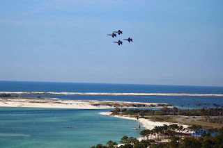 Blue Angels flying over Pensacola NAS ~