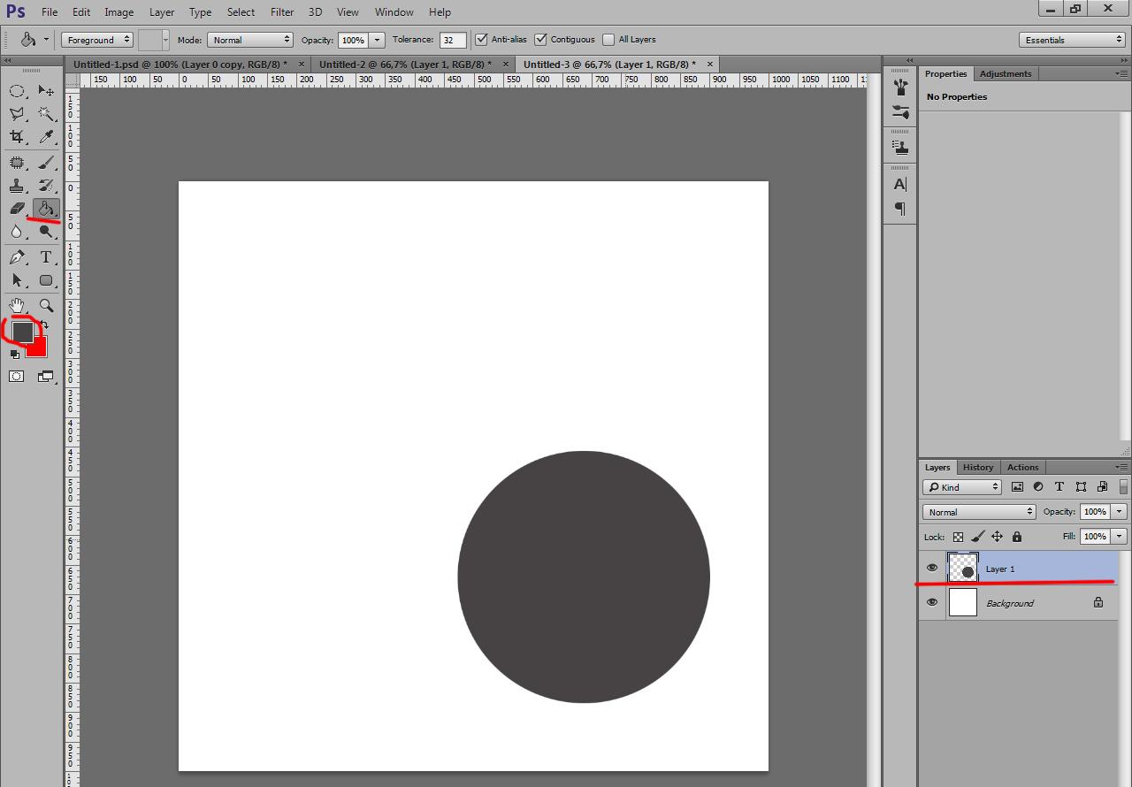 Как сделать чтобы фото было в кругу