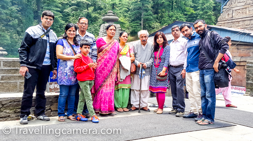 It was time to have a group shot before leaving Jageshwar Temple. While going back, we chose the other route which passes by Almora town. The roads around Binsar are brilliant as you always experience in Uttrakhand. That's best part to drive around Kumaon.