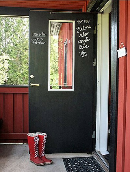 Little House Well Done: Chalkboard Front Door