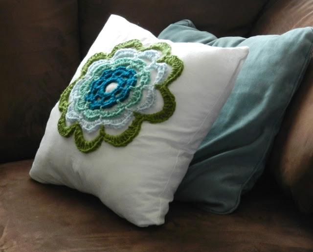 Crochet Flower Pillow