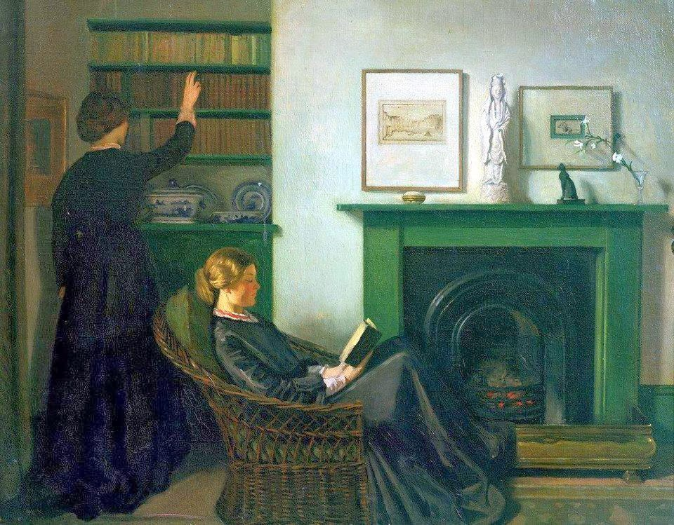 Sir William Rothenstein - The Browning Readers, 1900