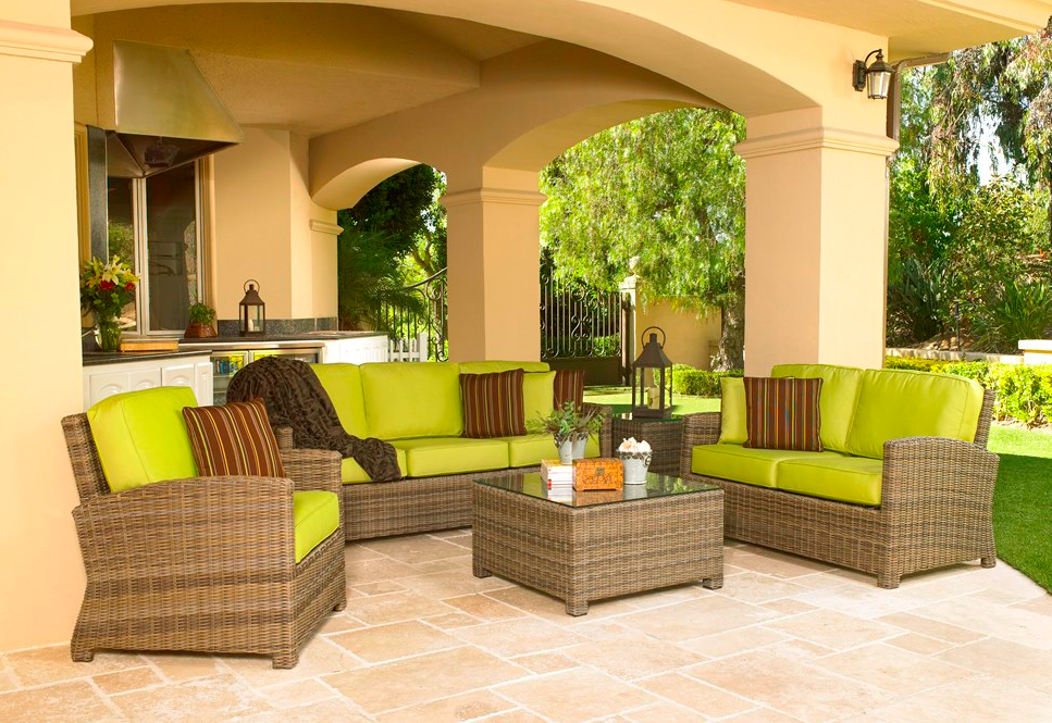 North Cape International Bainbridge Collection Wicker Outdoor Furniture Set  At Terra Nova Los Angeles Furniture