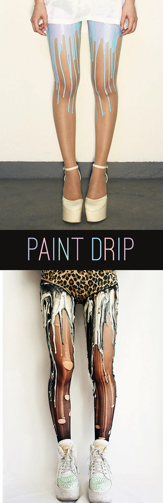 Melting Paint Drip Tights
