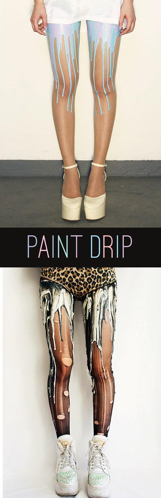 Melting Paint Drip Tights