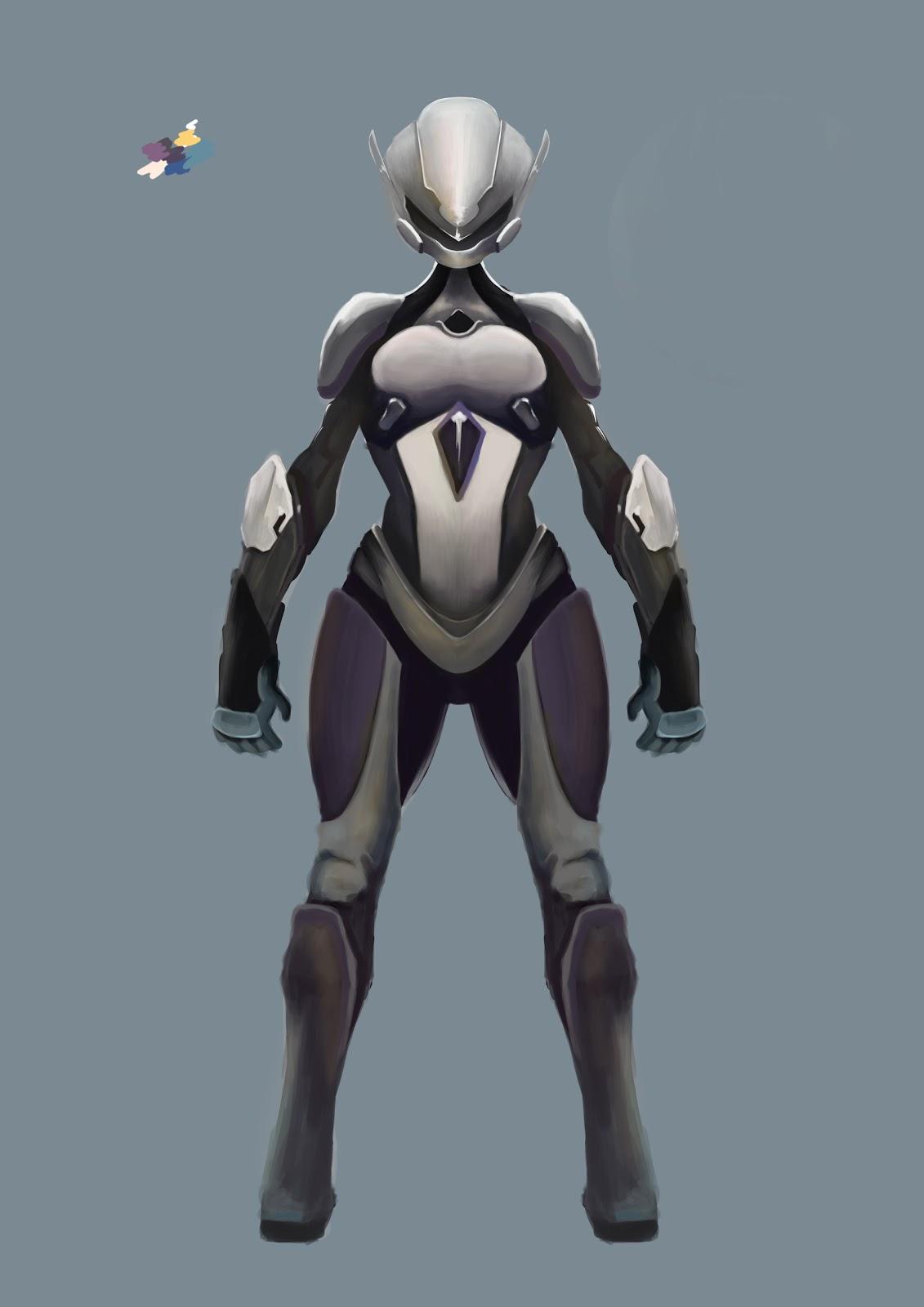Armure Futuriste melting drawz: concept armure futuriste