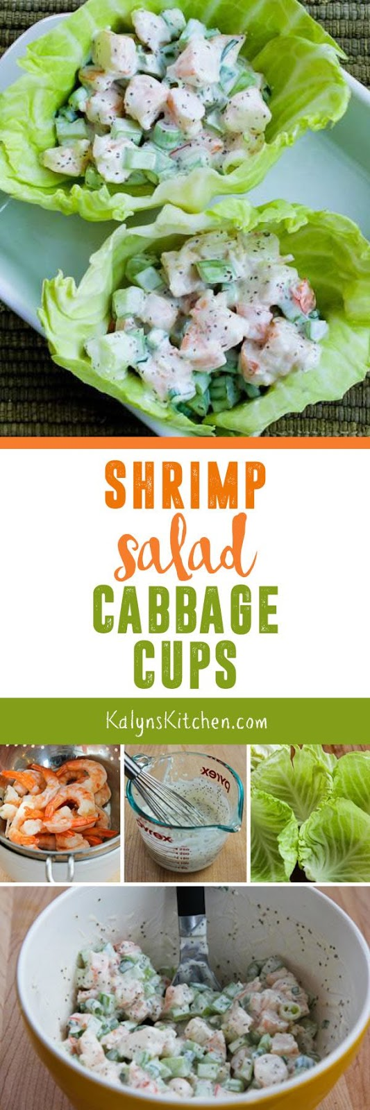 Shrimp Salad Cabbage Cups found on KalynsKitchen.com
