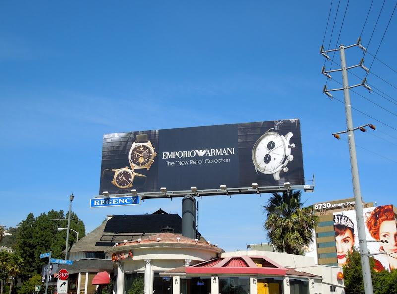 Emporio Armani Retro watch billboard