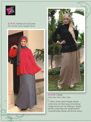 Rok panjang muslim ZN-R 03 Vertikal 12 Lines ZN-R 04 Cullote Abu tua bata hitam dongker marun khaki bata hitam safron hijau