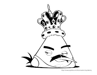 Angry Birds coloring pages Freddie Mercury