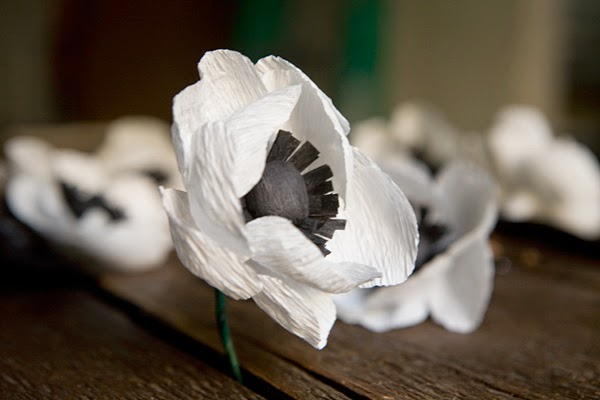DIY Anemonas de papel Crepe