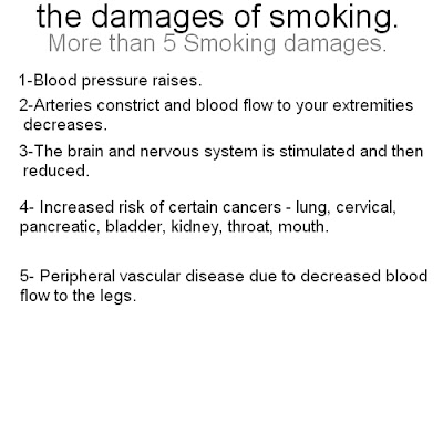 what are the damages of smoking
