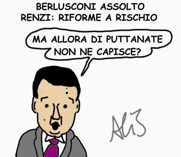 vignetta Renzi, Berlusconi