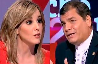Entrevista a Rafael Correa en La noche en 24 horas