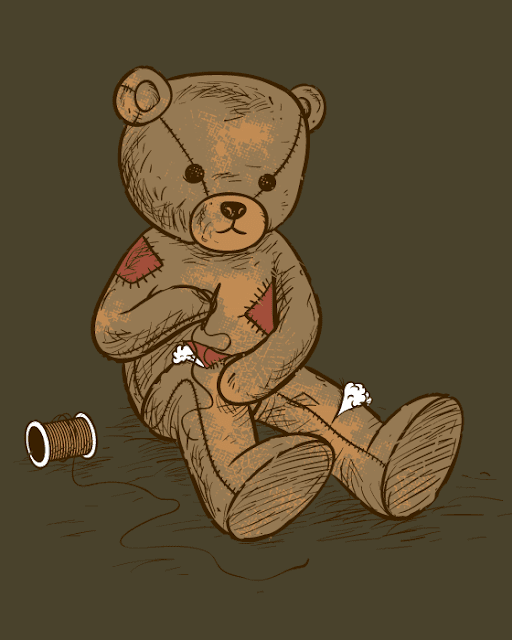 Chow Hon Lam: Independent -- Patchwork teddy bear