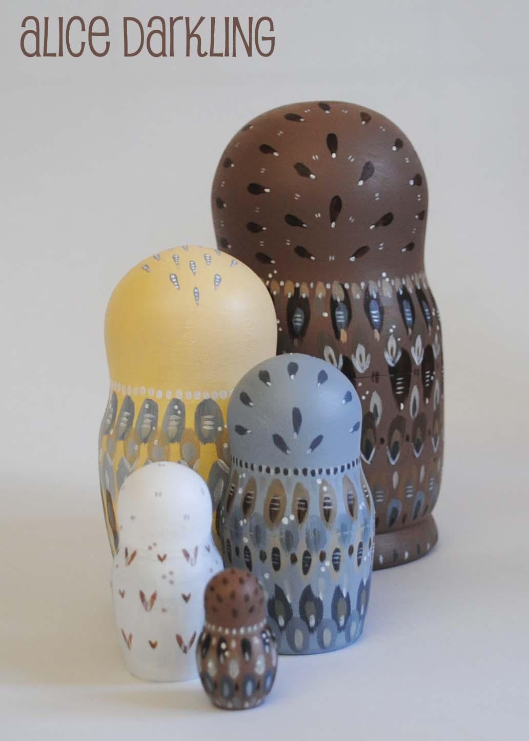 Owl Nest Owl Russian Nesting
