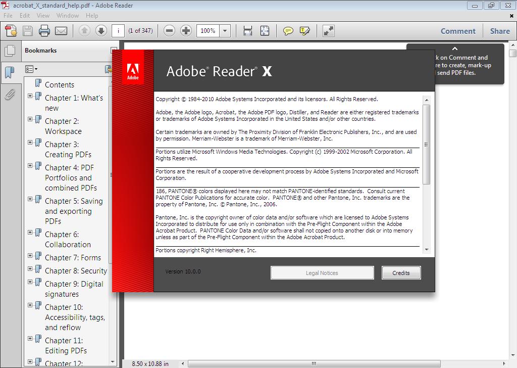 Adobe Reader (Адобе Ридер) 11 русская версия бесплатно