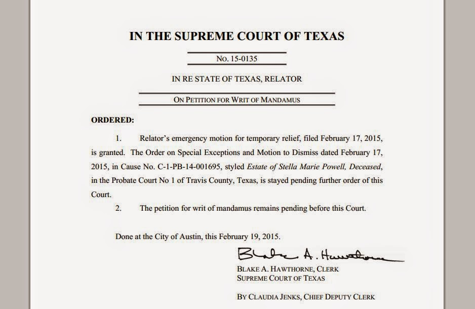 Tex.App.: Petition for Writ of Mandamus - Appeal by a different ...