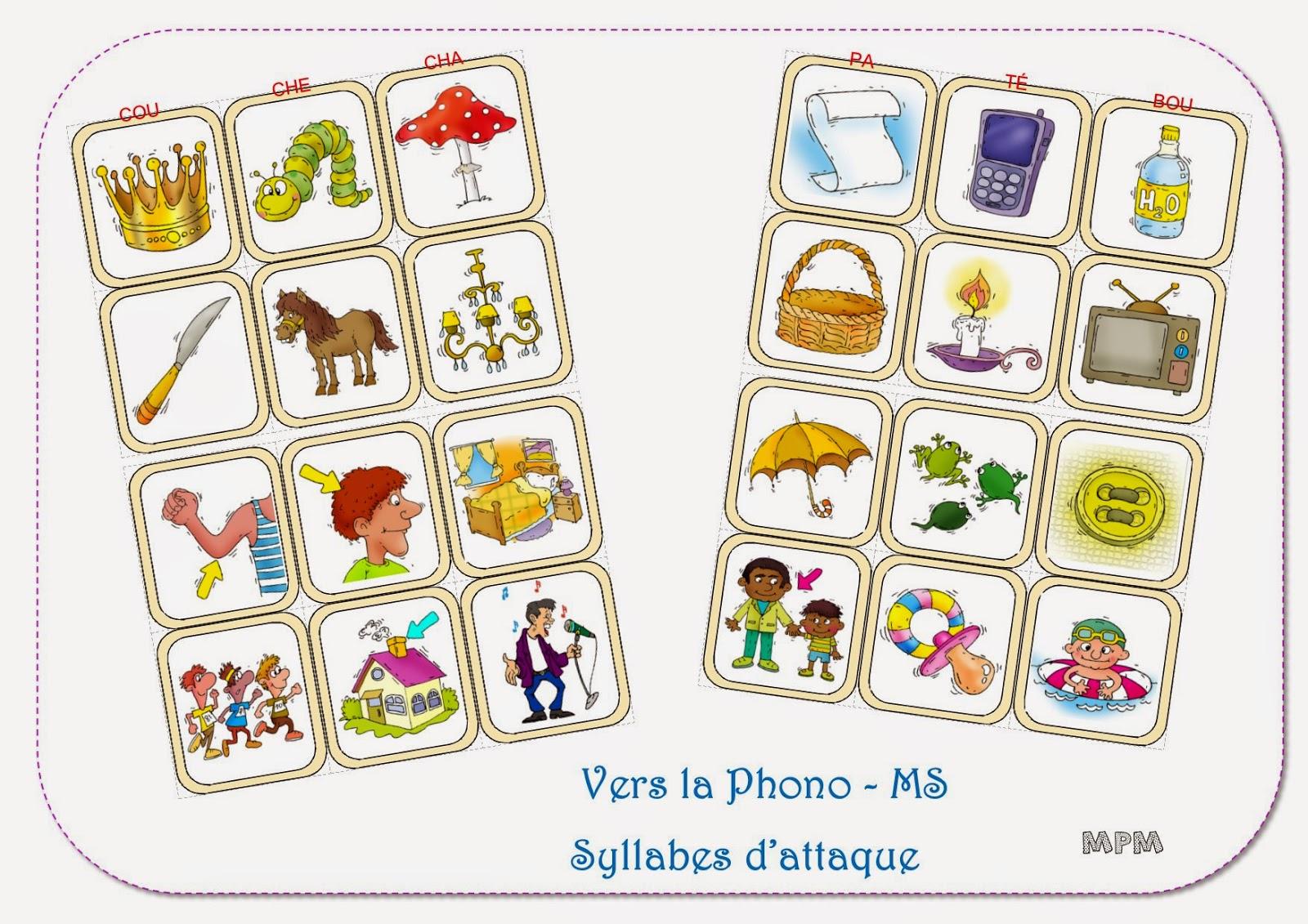 Phonologie MS jeu de syllabes